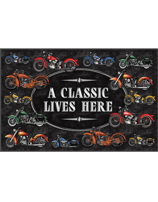 rivers edge classic motorcycle door mat