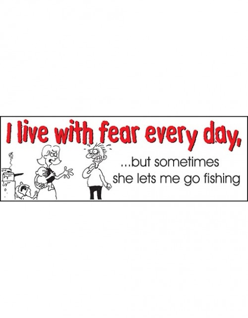 I live with fear every.