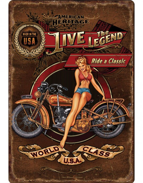 rivers edge tin sign live the legend