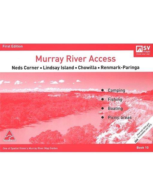 Murray River Access Map 10 Neds Corner To Paringa Australian