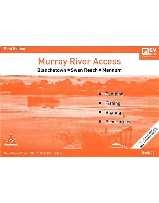 Murray River Access Map 15 Blanchetown To Mannum Australian