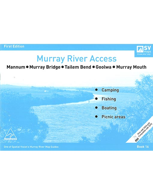 MURRAY RIVER ACCESS MAP - #16 MANNUM TO MURRAY MOUTH