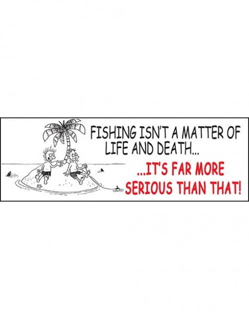fishing isn't a matter of.
