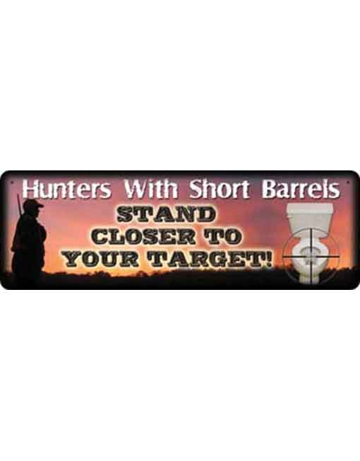 rivers edge small tin sign hunters with short barrels