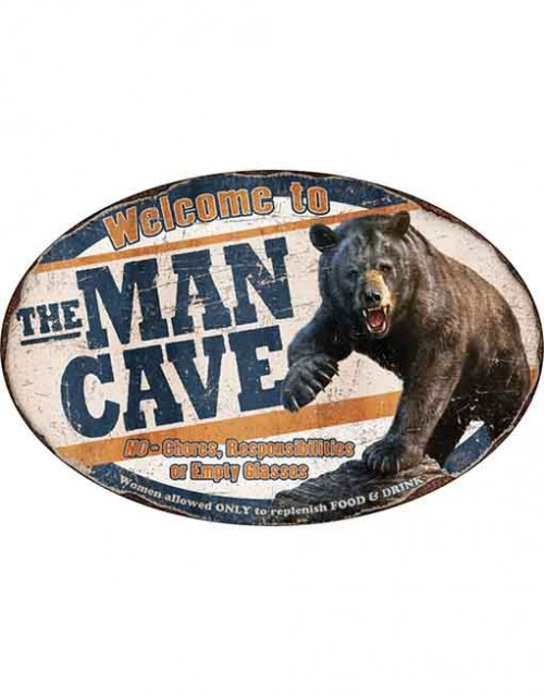 rivers edge tin sign mancave