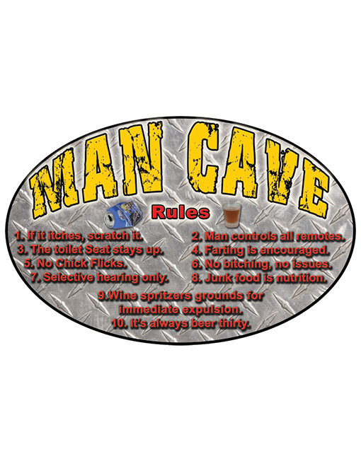 rivers edge tin sign man cave