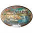 rivers edge tin sign what happens at the cabin