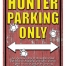 rivers edge tin sign hunter parking