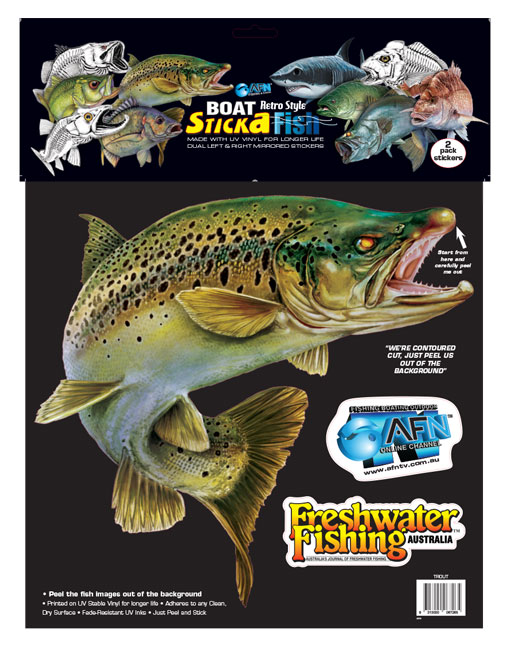 Retro Large Trout Sticka Dual Australian Fishing Network