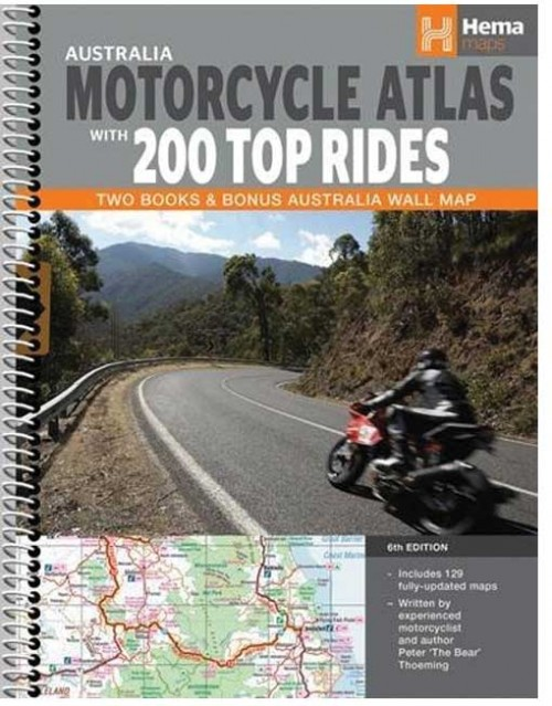 Australia Motorcyle Atlas with 200 Top Rides