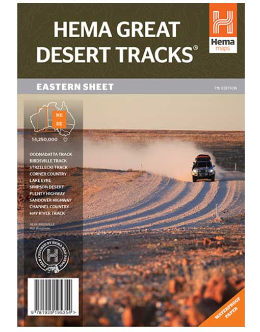 Great Desert Tracks Eastern Sheet Map