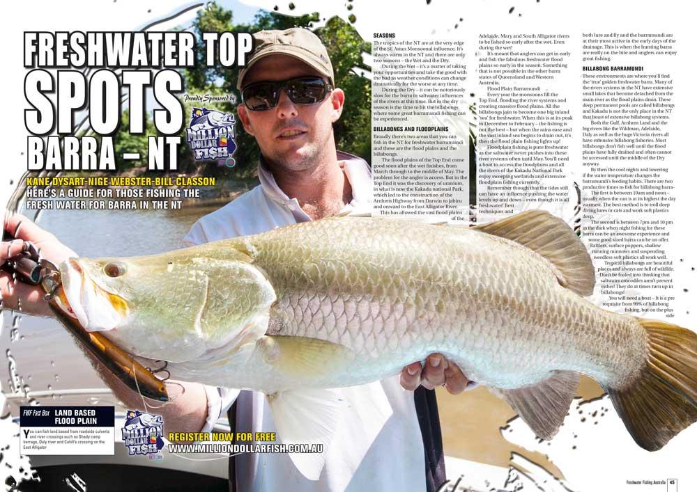 Freshwater Top Spots Barra - NT - Australian Fishing Network