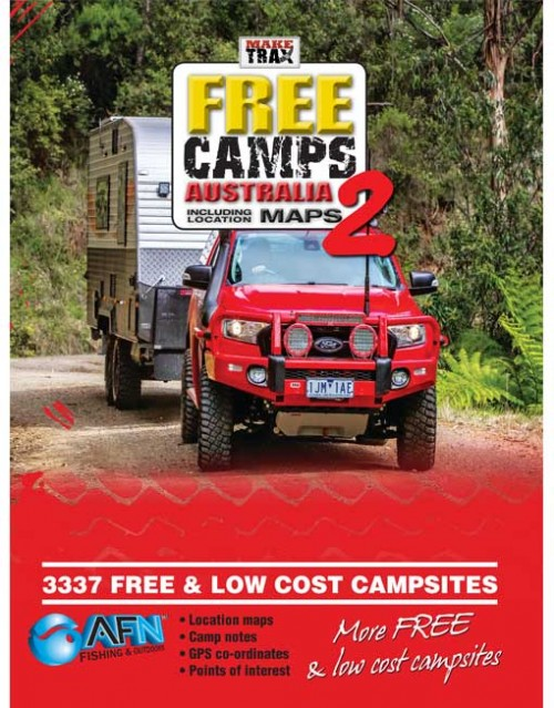 Make Trax Free Camps Australia 2 including location maps.