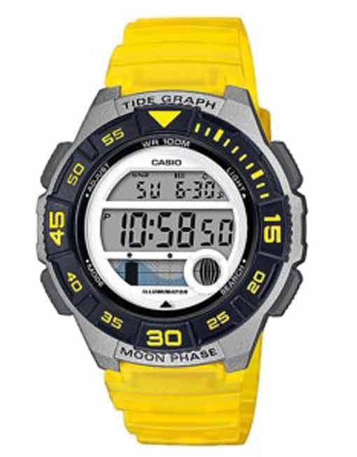 Casio Marine Sports Gear Tide Ladies - Yellow